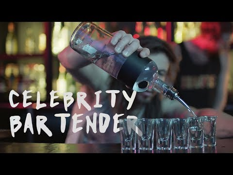 """""""Come by, I'm pouring tonight"""" - Celebrity Bartender 