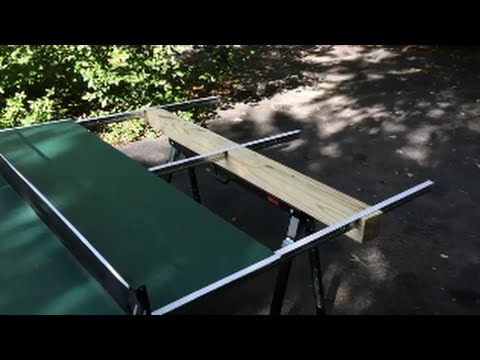 Homemade Outdoor Ping Pong Table