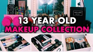 HUGE Makeup Collection of a 13 Year Old! | My Makeup Collection 2017