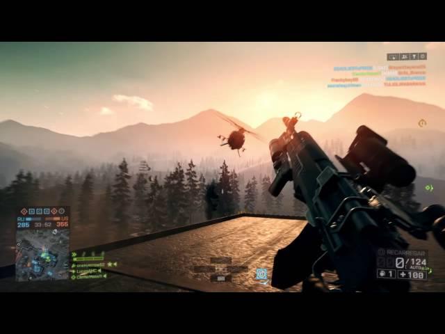 Derrubando um helicóptero com uma granada