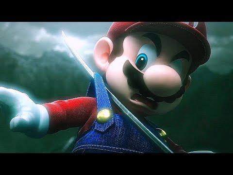 Mario Almost Dies in All Super Smash Bros Ultimate Reveal Trailers (HD Cutscenes Movie)
