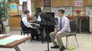 "Drake Willard Bass Clarinet Competition 2 1 14 WMEA East Shore Region ""Ballade"" by Eugene Bozza"