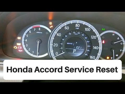 2012-2016 Honda Accord Service Light Reset