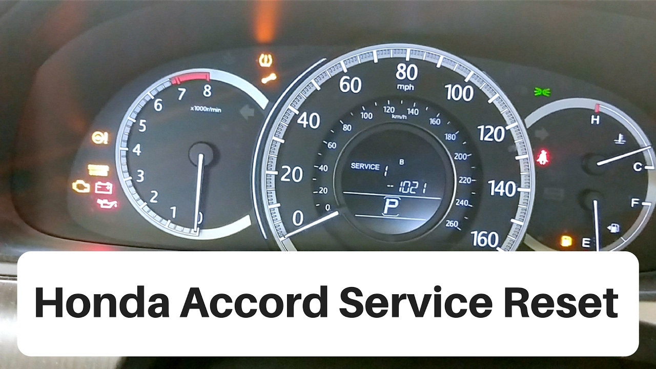 Honda Accord Maintenance Codes >> 2012 2016 Honda Accord Service Light Reset Youtube