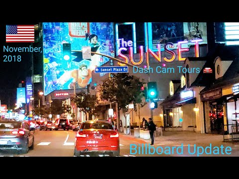 West Hollywood Billboard Row Monthly Update || November, 2018 || Dash Cam Tours 🚘