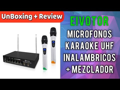 Micrófonos karaoke Profesionales Inalámbricos EIVOTOR | UnBoxing Review en Español