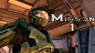Halo Ce Anniversary - The Pillar of Autumn - Mission 1 (1080p60fps) Xbox One MCC