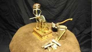 Miniature Solenoid Engine Wheel Grinder & Man