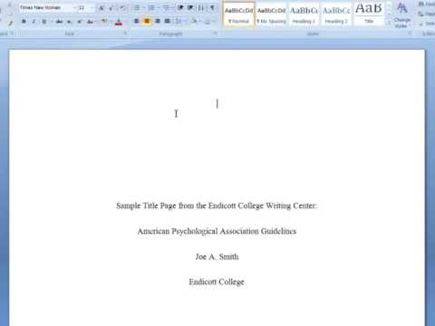 hqdefault Apa Essay Format Example Paper Th Edition on