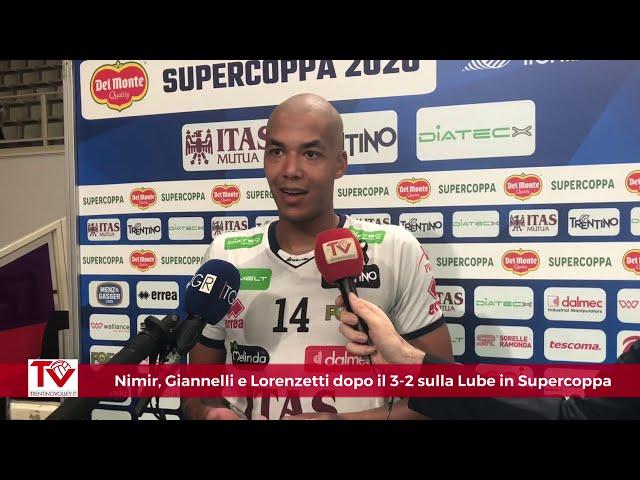 Nimir, Giannelli e Lorenzetti dopo il 3-2 sulla Lube in Supercoppa