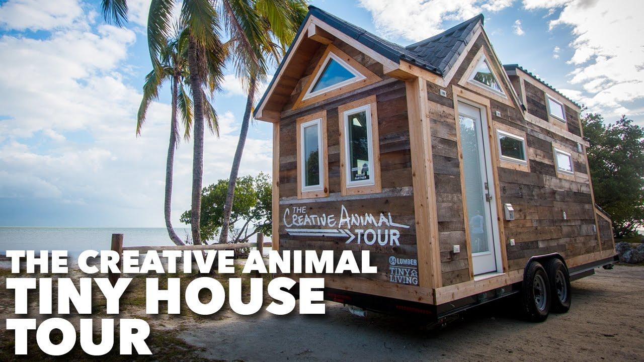 the creative animal tiny house tour youtube