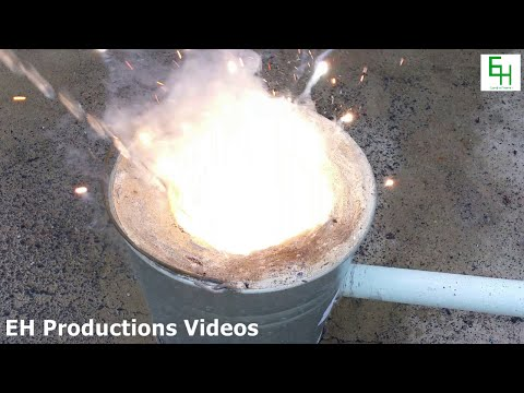 Spraying Water On Burning Magnesium