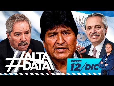 Evo Morales en la Argentina de Alberto Fernández  | #AltaData, todo lo que pasa en un toque