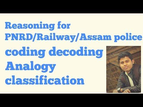 REASONING /CODING -DECODING, CLASSIFICATION,ANALOGY FOR PNRD/SI,RAILWAY
