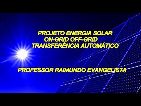 Projeto  energia solar off-grid,on-grid comutação de redes transferência automático