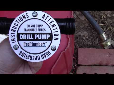 Testing the Drill Pump