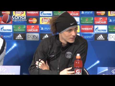 La conférence de presse de David Luiz