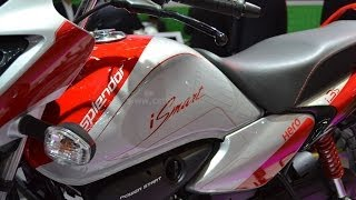 hero splendor ismart i3s  intelligent start stop motorcycle review from auto expo 2014