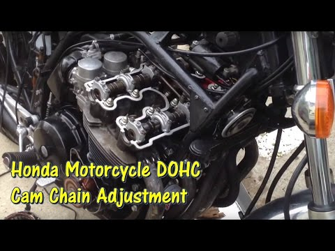 1979 to Mid 1980s Honda DOHC Motorcycle Cam Chain Tensioner Adjustment @GettinJunkDone