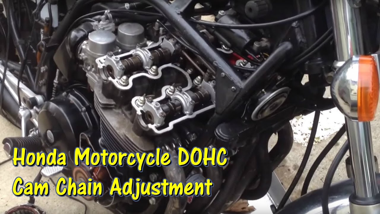 small resolution of 1979 to mid 1980s honda dohc motorcycle cam chain tensioner adjustment gettinjunkdone