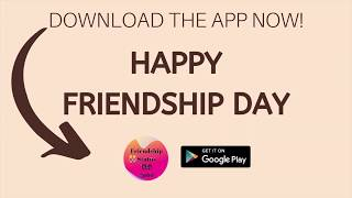 Happy Friendship Day Messages, Images, Status App for 2020 - 2021