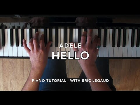 Hello (Adele) - Easy Piano Lesson Tutorial