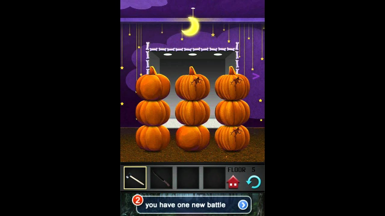 100 Floors Seasons Tower Level 5 Halloween Walkthrough