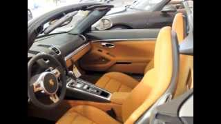 2013 Porsche 981 Boxster (981): Platinium Silver on Agate/Amber Orange