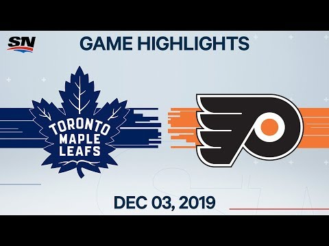 NHL Highlights | Maple Leafs Vs. Flyers – Dec. 03, 2019