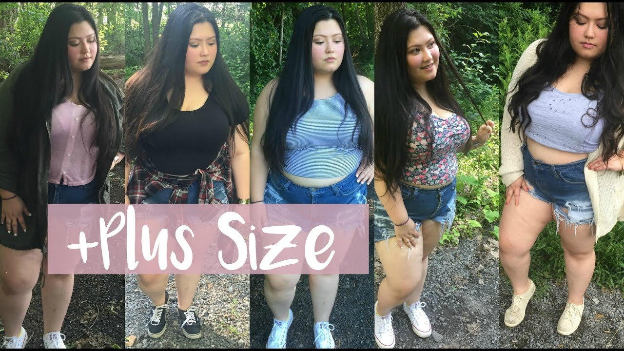Plus Size || How I Style High Waisted Shorts - YouTube