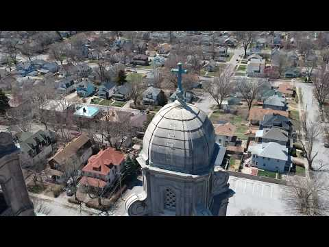 0574 Flight 1 - Omaha Architecure flight -  St. Cecilia Cathedral 1080p HD Rate 93