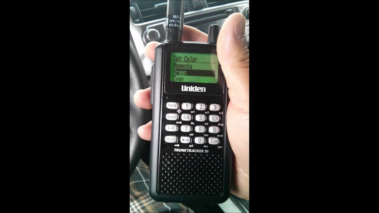 Uniden scanner analog to p25 digital conversion