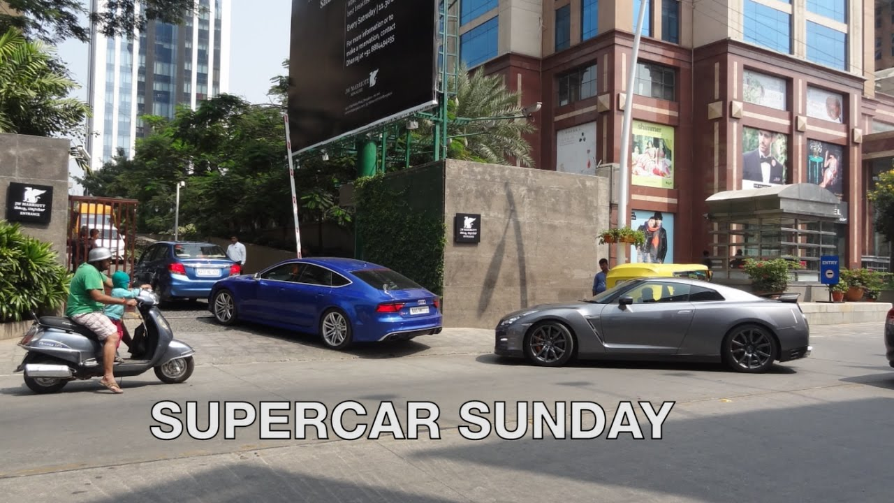 Supercars Sunday Supercars On Indian Roads Bmw I8 Nissan Gtr
