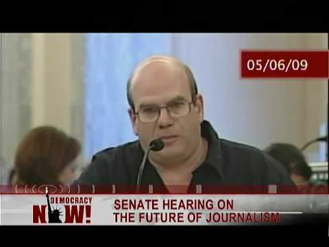 David Simon testifying about the future of Newspapers