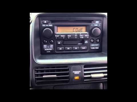 Stereo Reset Code For 2006 Honda Cr V Youtube