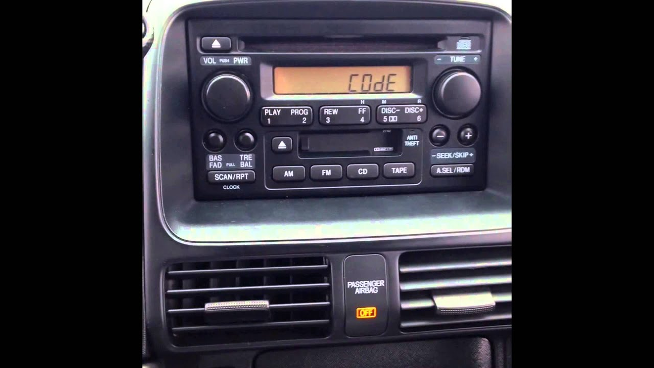 stereo reset code for 2006 honda cr-v (locked radio) - youtube