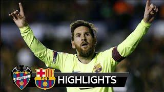 HIGHLIGHTS  LEVANTE VS BARCELONA (2-1)10/12/2018