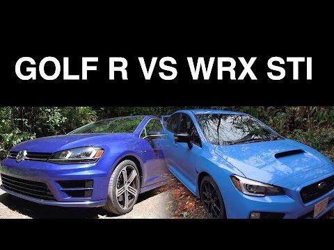 2016 VW Golf R vs 2016 Subaru WRX STI - YouTube