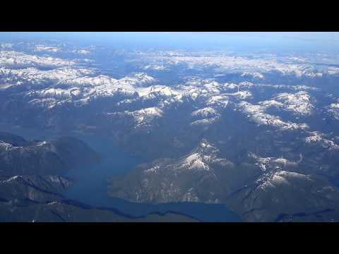 LearJet 35 Cockpit View - Canadian Coastal Range and Landing at Boeing Field  Seattle, WA