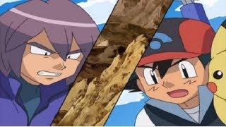 Pokémon - Ash Vs Paul (Staravia evolui para Staraptor)