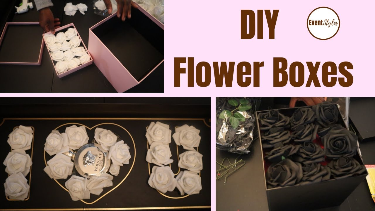 DIY Flower Gift Boxes for Valentines Day 2021 - Floral Gift Ideas