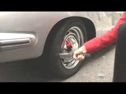 Woman Slashes A Tire