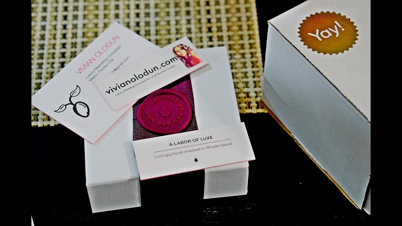 Unboxing Moo Luxe Mini Business Cards - YouTube