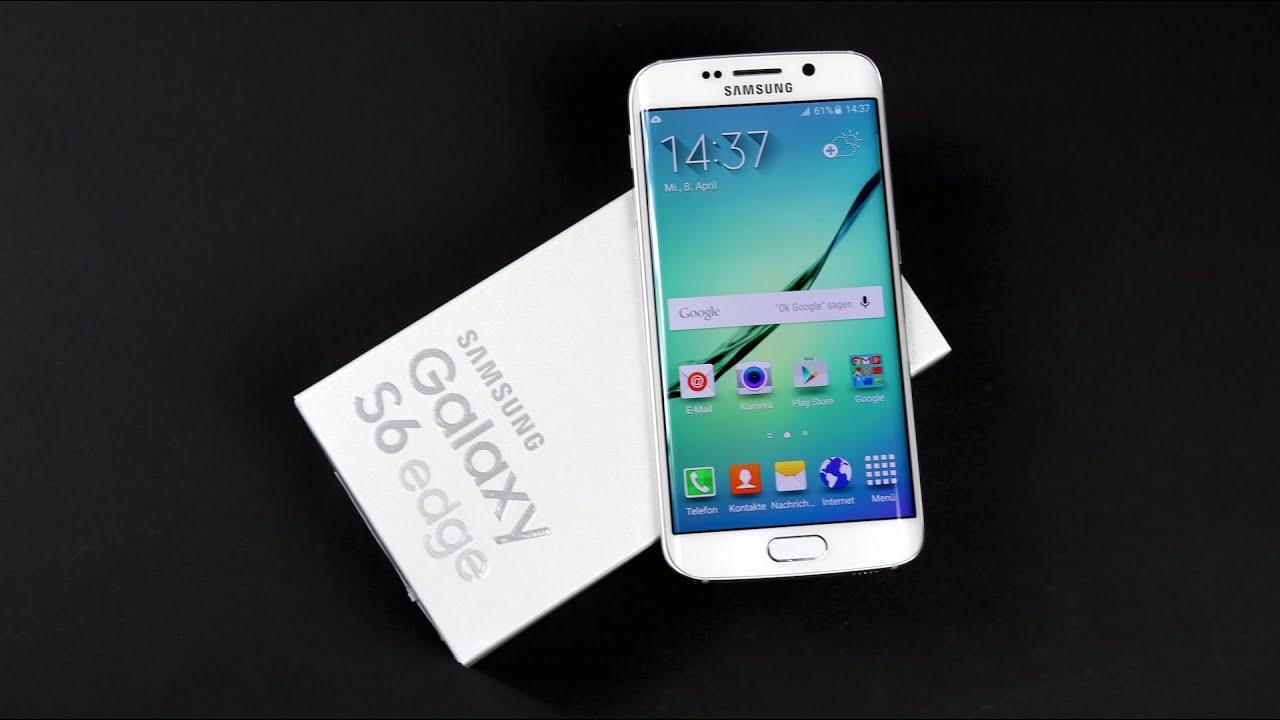 Samsung Galaxy S6 Edge Sim Karte Einlegen.Samsung Galaxy S6 Edge Unboxing Einrichten Sim Einlegen