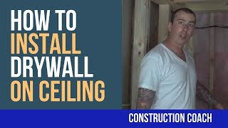 How to Install Drywall on Ceiling - DIY