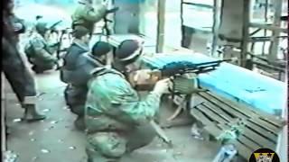 (Уникальные кадры!) СОБР в Грозном, Чечня 1996г.    6 часть (Бой)