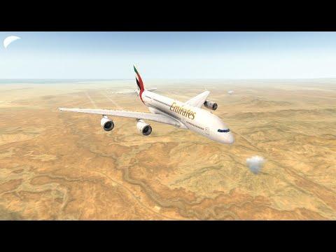 Airbus A380 Emirates Full Flight Part (1/2) - Real Flight Simulator Rortos  2019