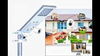 Lámpara Solar de Calle con Cámara WIFI integrada SUNLUX GUARD