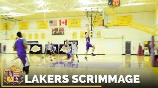 Lakers 5-On-5 Scrimmage Footage: Brandon Ingram, Julius Randle, D'Angelo Russell