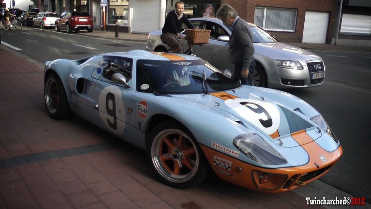 Ford Gt Gulf Livery Loud Start Up And Acceleration